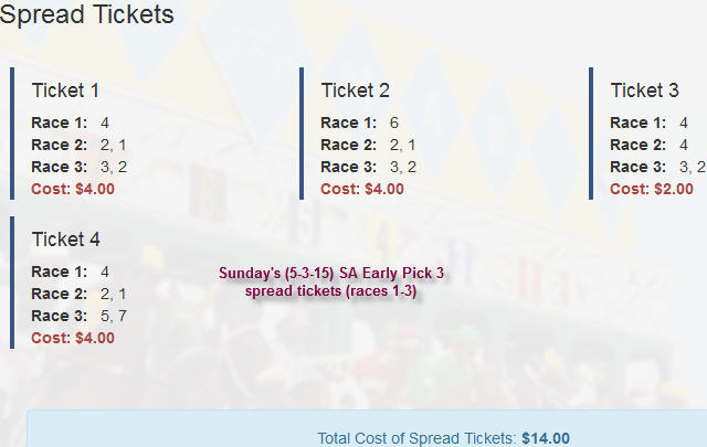 Early Pick 3 Tickets