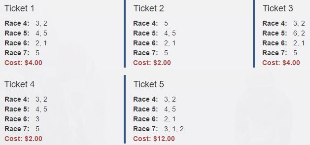 Golden Gate Fields Late Pick 4 Tickets For March 17 Pick
